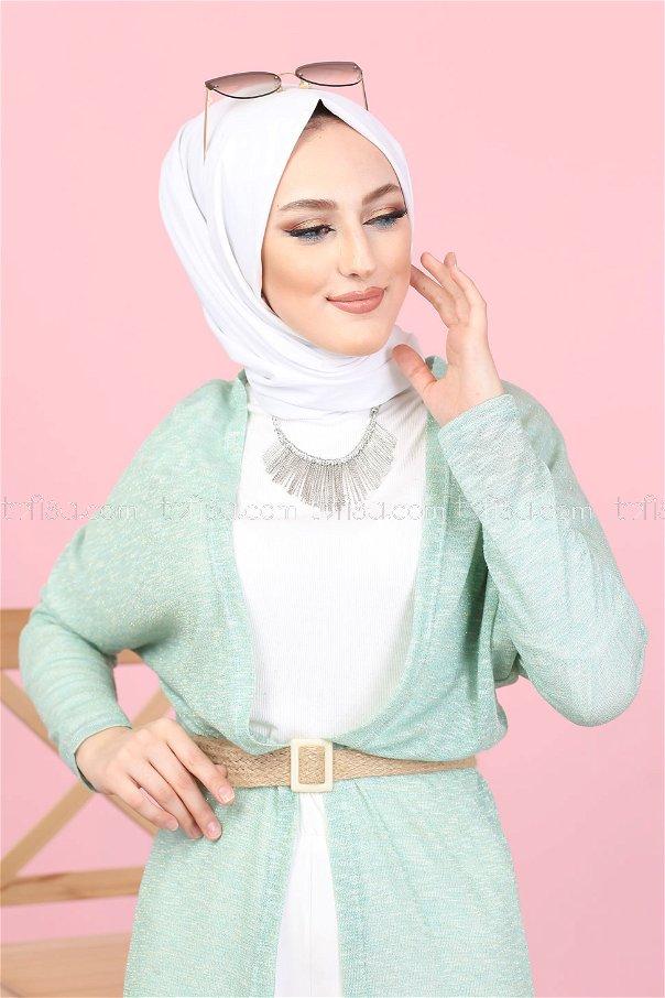 Simli Hırka Mint - 3093