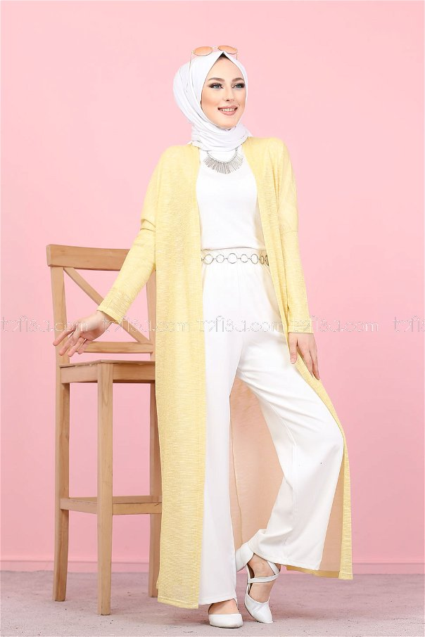 Simli Hırka Sarı - 3093