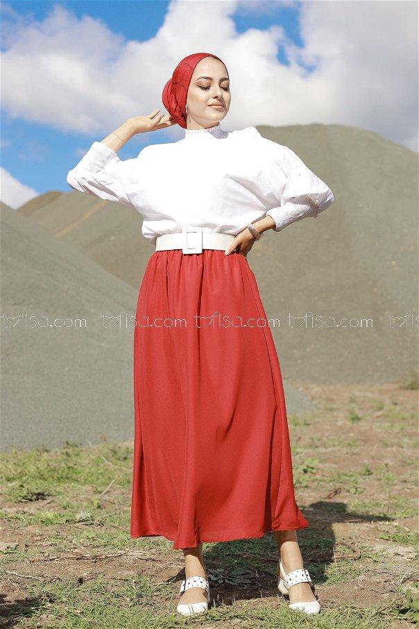 Skirt Claret Red - 3222