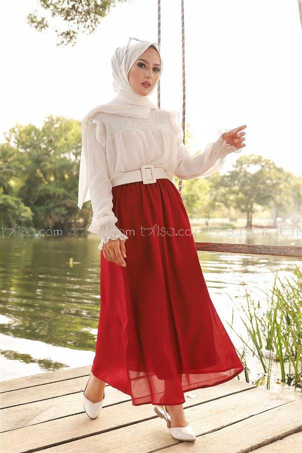 Skirt Light Claret Red - 3222