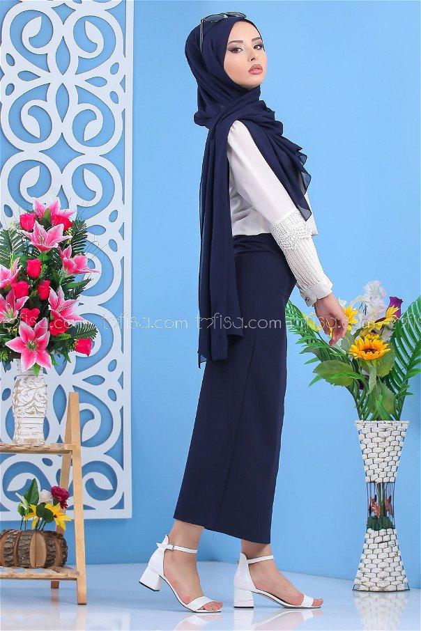 Skirt Navy Blue - 02 7408