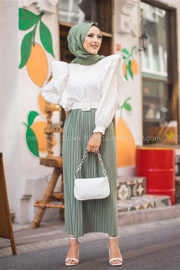 Skirt Pleated Green - 3234