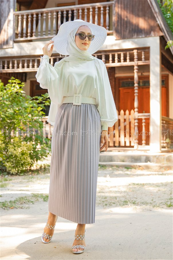 Skirt Pleated Grey - 3234