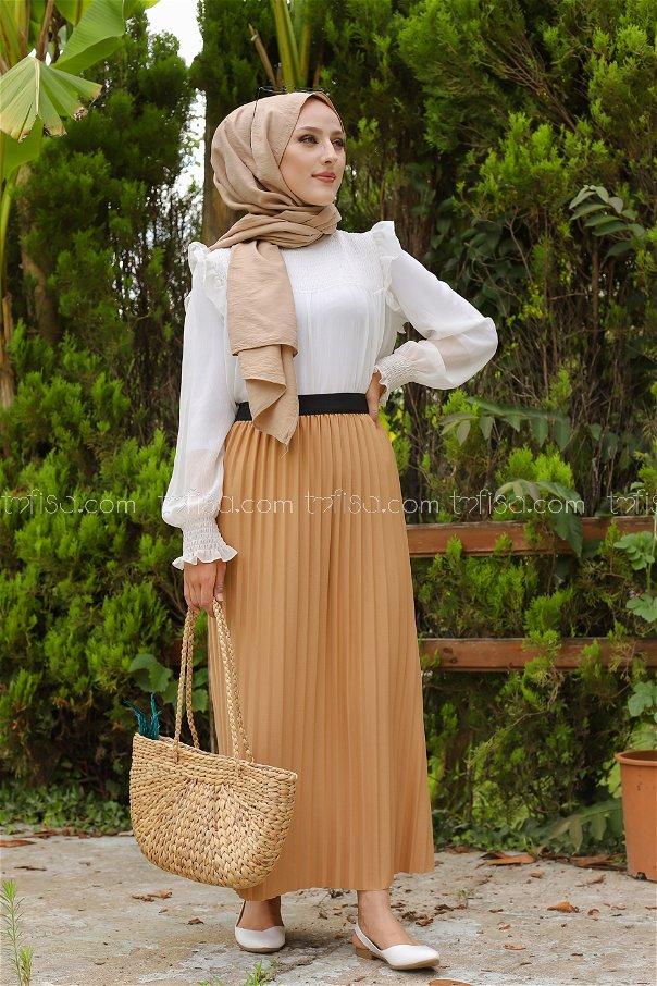 Skirt Pleated Mink - 3234