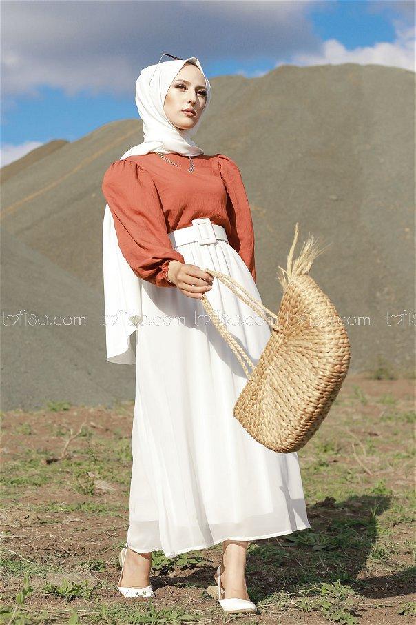Skirt White - 3222