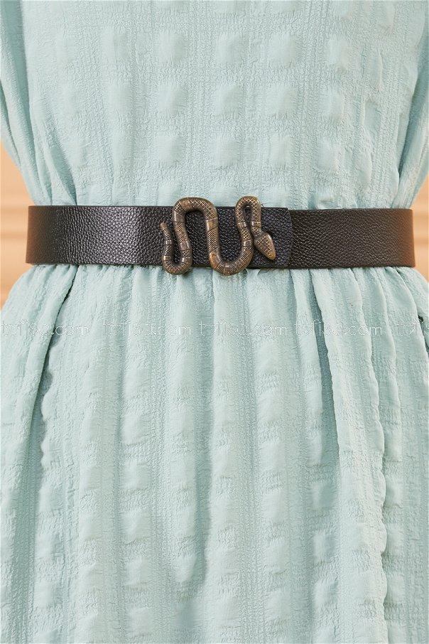 Snake Buckle Belt BLACK - 20385