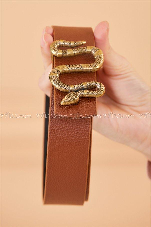 Snake Buckle Belt BROWN - 20385