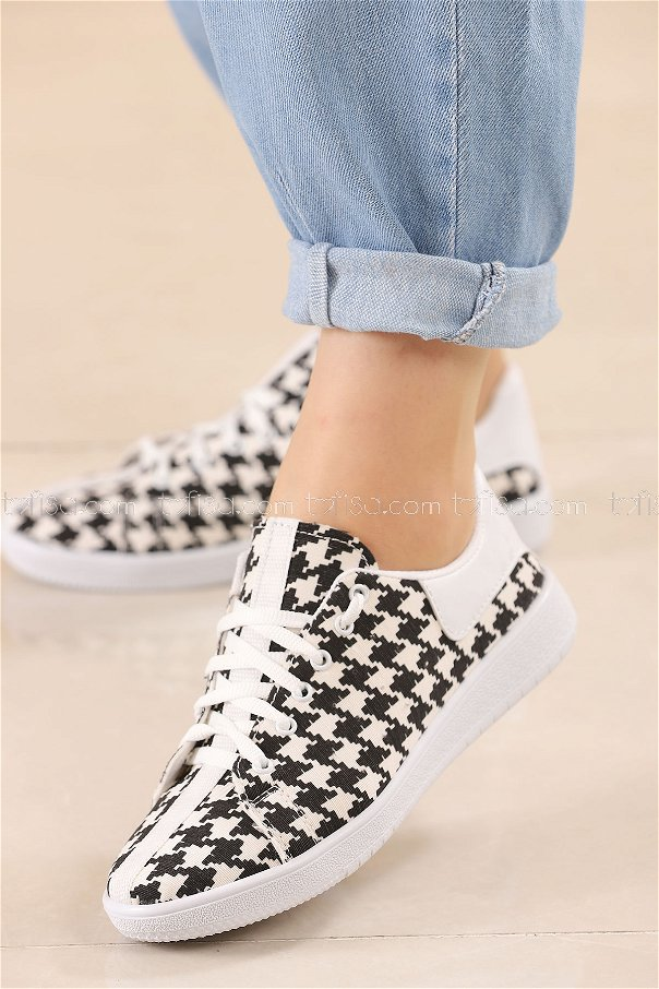 Sneakers BLACK WHITE - 8845