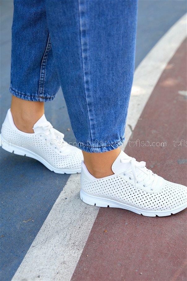 Spor Ayakkabı BEYAZ - 20408