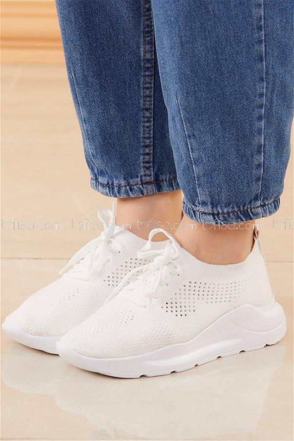 Spor Ayakkabı BEYAZ - 20534