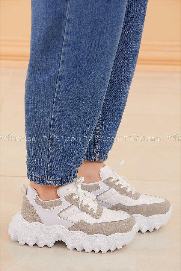 Spor Ayakkabı BEYAZ - 20574
