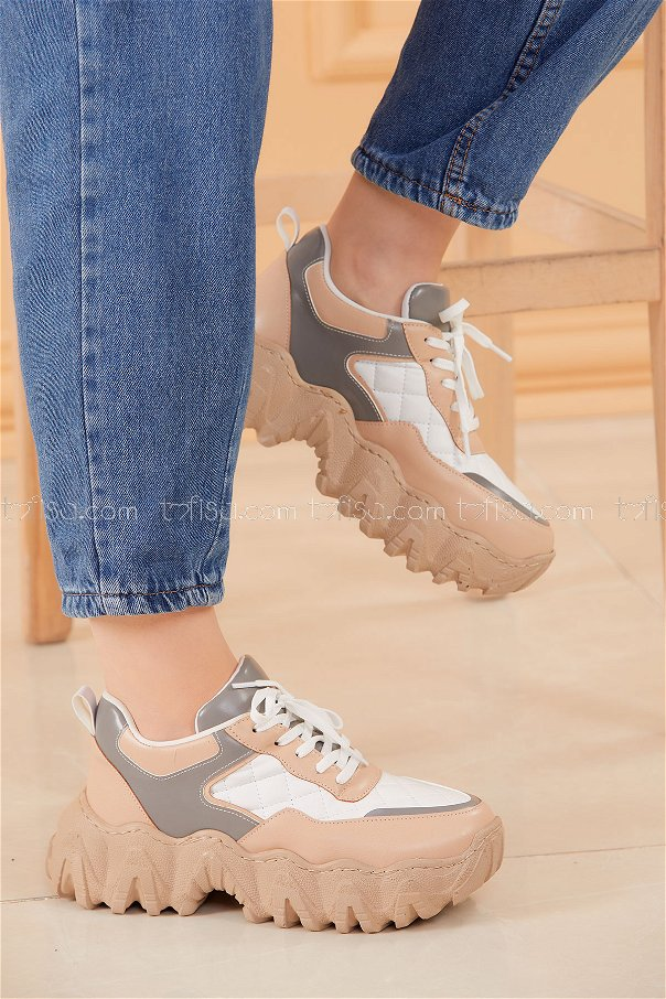 Spor Ayakkabı BEYAZ GRI - 20574