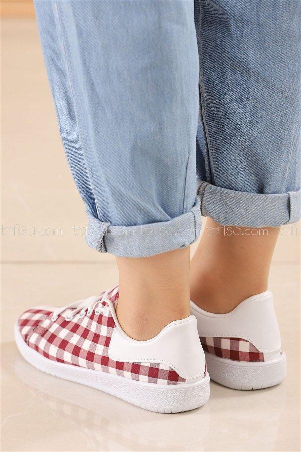 Spor Ayakkabı BORDO - 8846