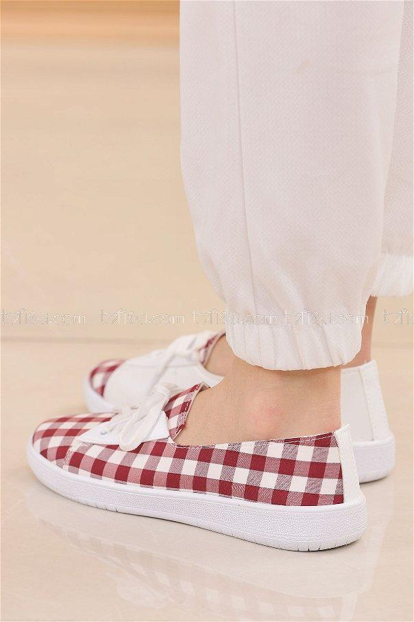 Spor Ayakkabı BORDO - 8847