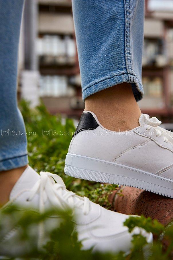 Spor Ayakkabı BYZ BEYAZ SIYAH - 8688