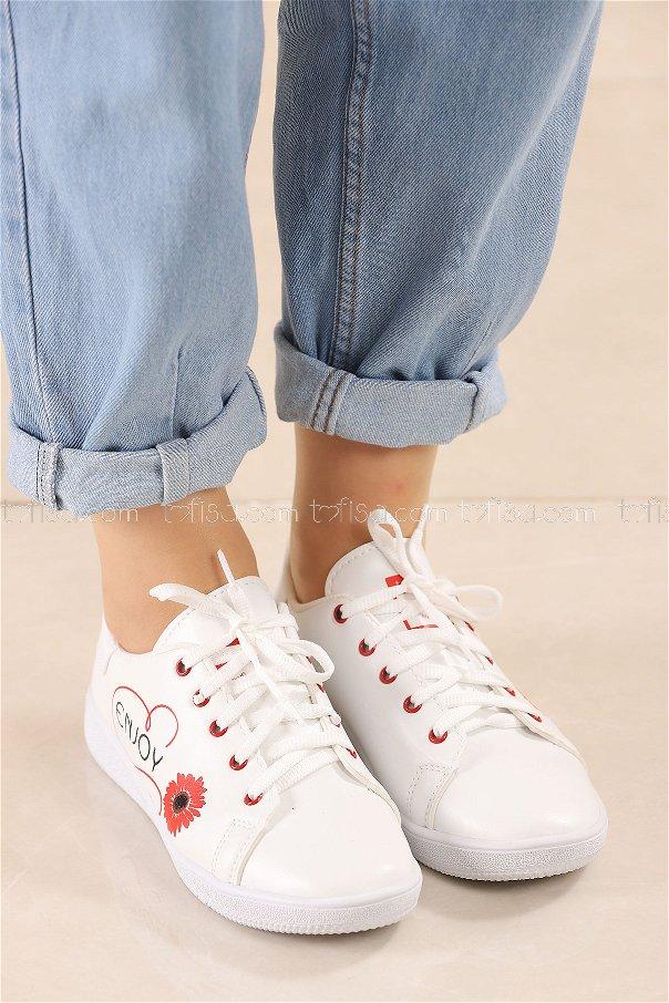 Spor Ayakkabı KIRMIZI - 8839