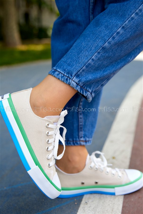Spor Ayakkabı KREM - 20404