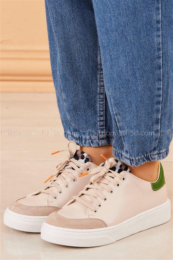 Spor Ayakkabı KREM - 20416