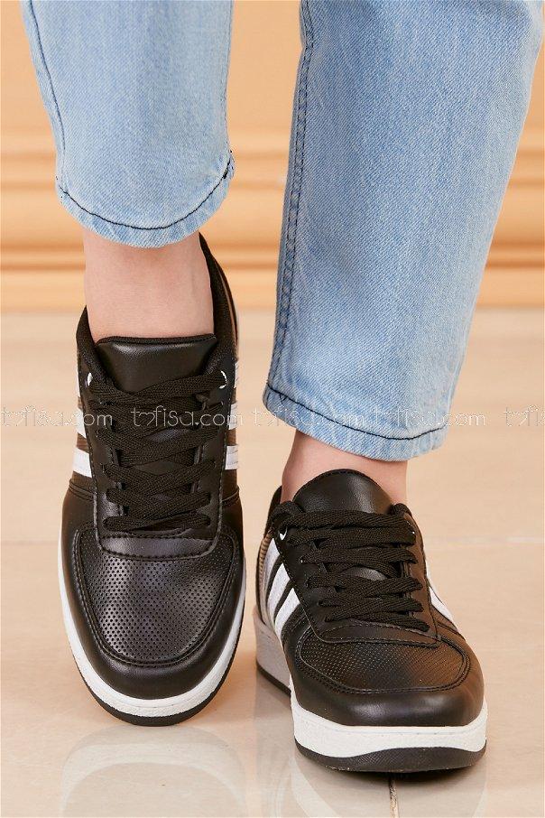 Spor Ayakkabı SIYAH BEYAZ - 20218