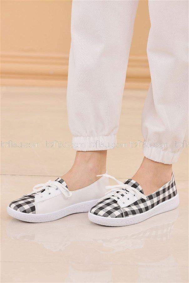 Spor Ayakkabı SIYAH BEYAZ - 8847