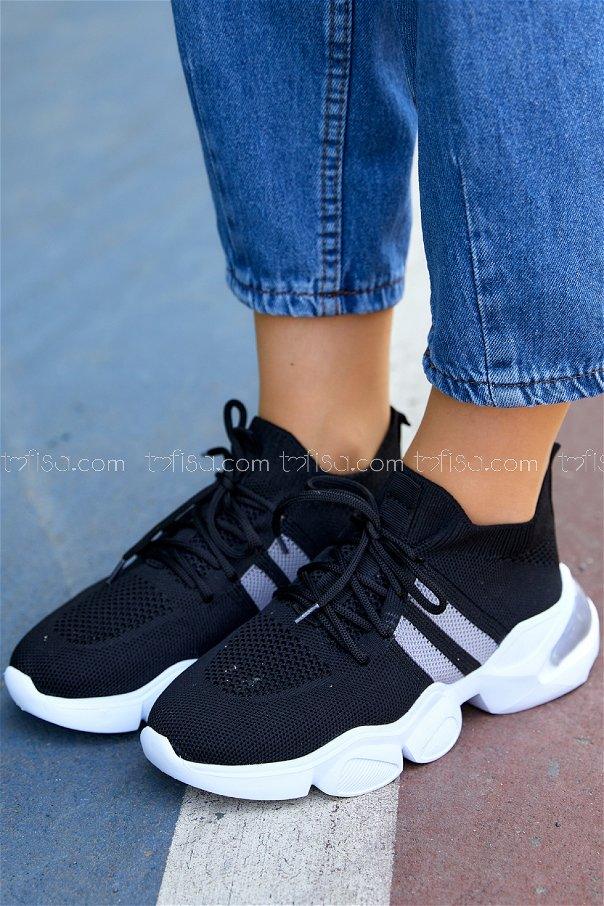 Spor Ayakkabı SIYAH GRI - 20401