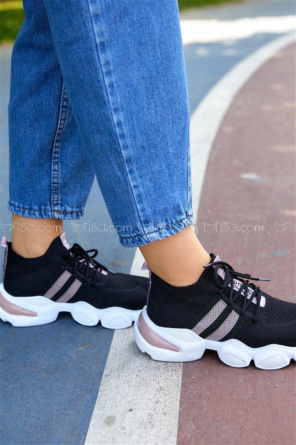 Spor Ayakkabı SIYAH PUDRA - 20401