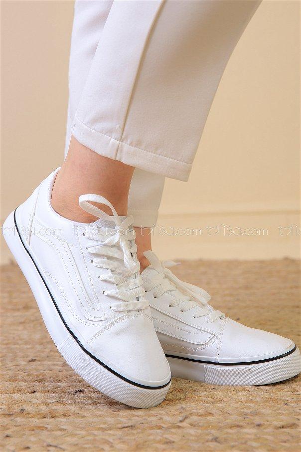 Spor Vans Ayakkabı Beyaz - 8694