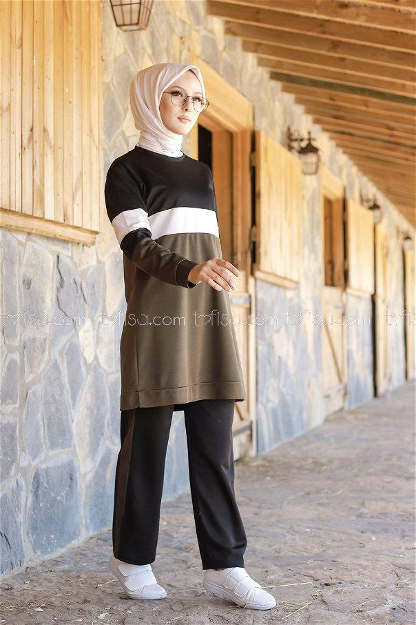 Sports Tunic Pants Kombin Khaki - 02 6570