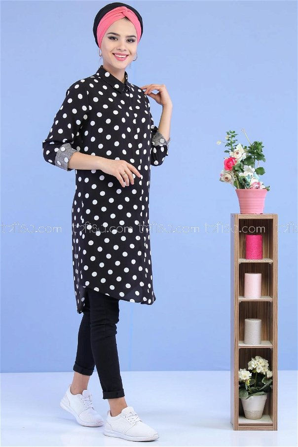 Spotted Tunic Black - 02 7033
