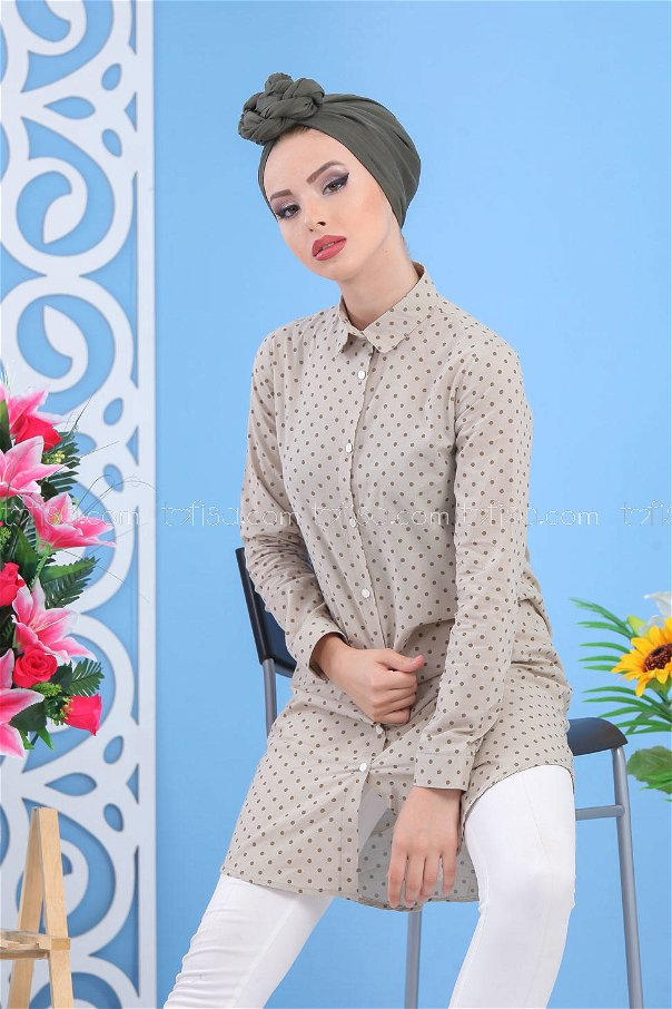 Spotted Tunic - Mink - 02 7489