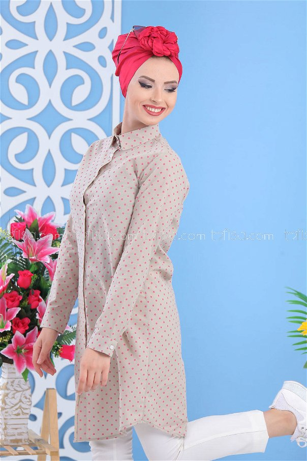 Spotted Tunic - Pink - 02 7489