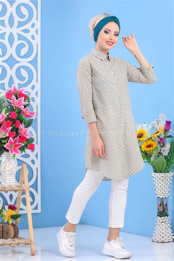 Spotted Tunic - Turqoise - 02 7489
