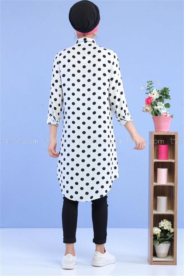 Spotted Tunic White - 02 7033