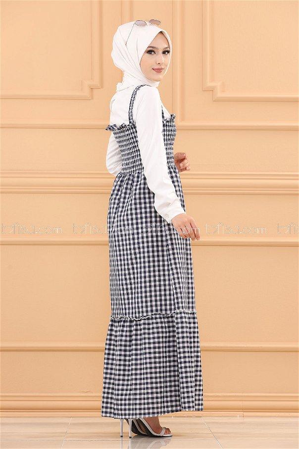 Strap Dress NAVY BLUE - 3727