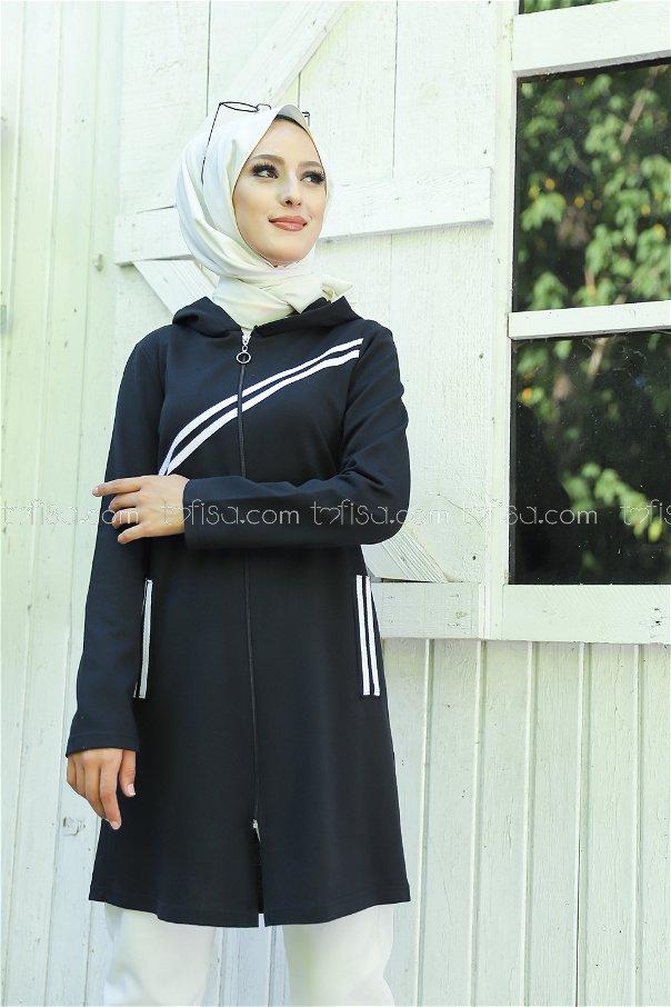 Striped Cap Black - 4121