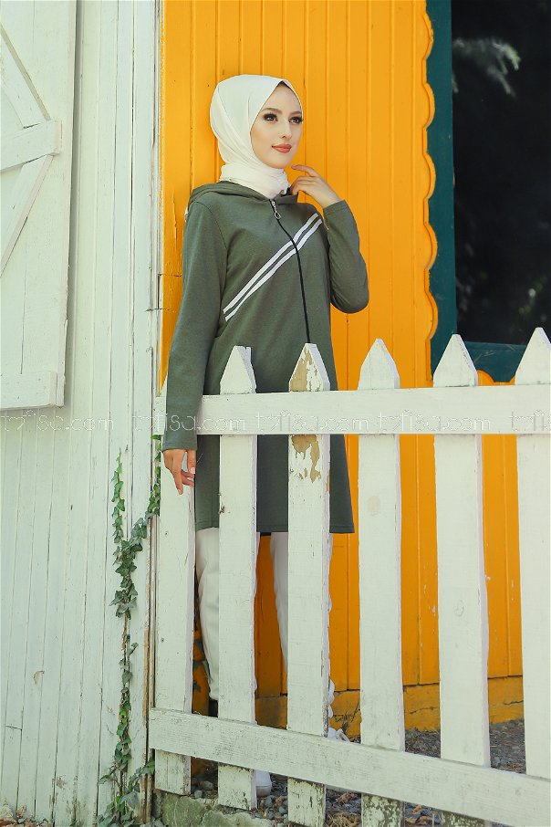 Striped Cap Khaki - 4121