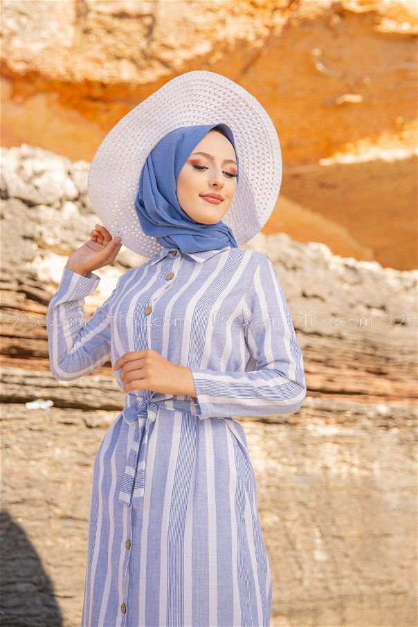 Striped Dress Blue - 3260