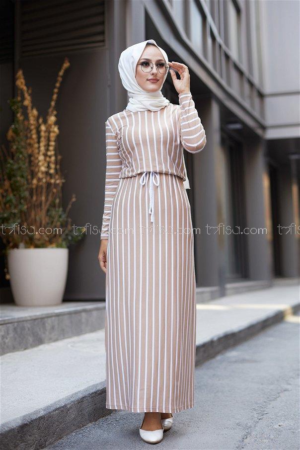 Striped Dress Mink - 5273