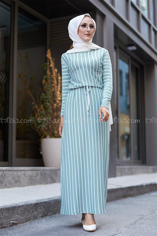 Striped Dress Mint - 5273