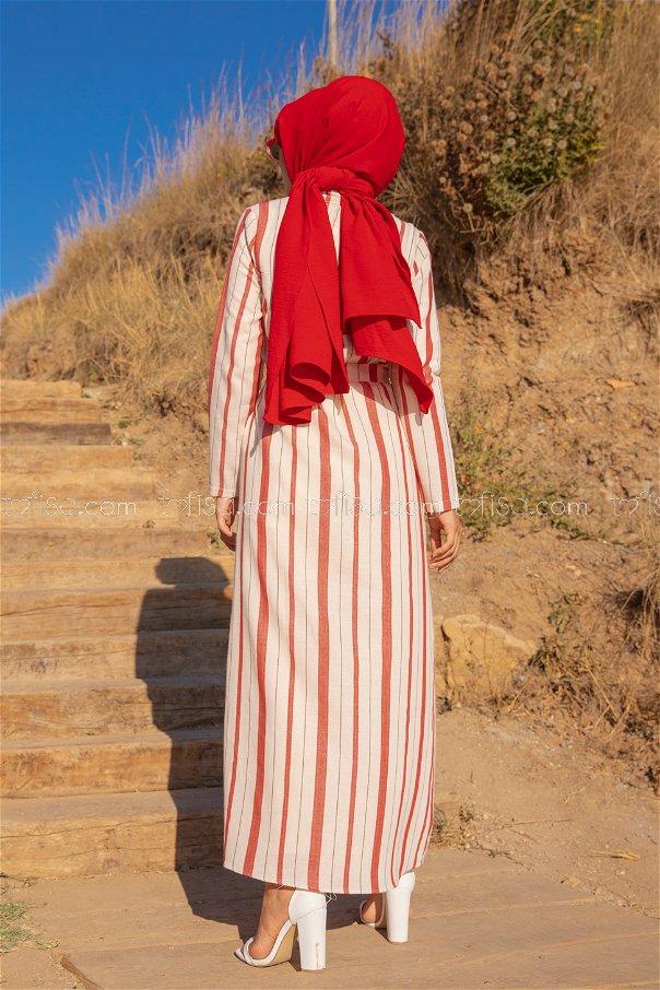 Striped Dress Red - 3260