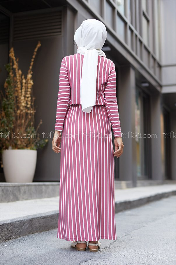 Striped Dress Rose - 5273
