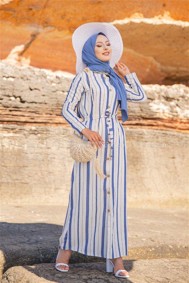 Striped Dress Sax - 3260