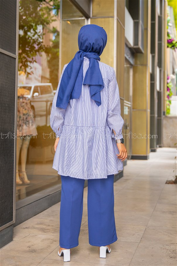 Striped Tunic Blue - 3122