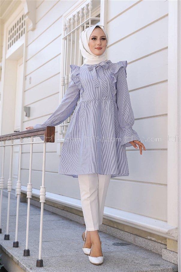 Striped Tunic Blue - 3232