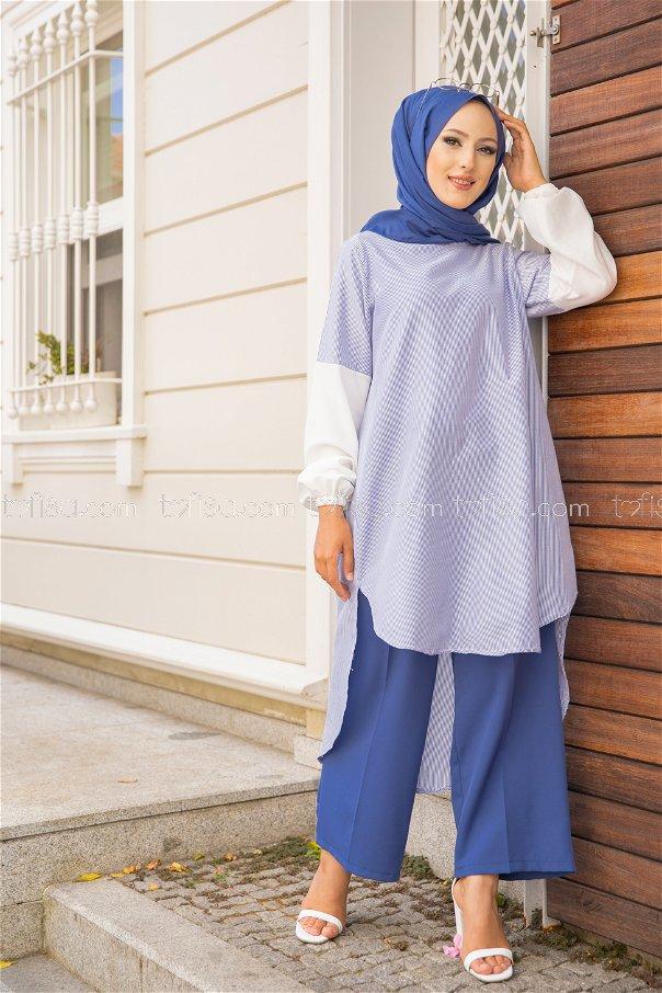 Striped Tunic Blue - 3241