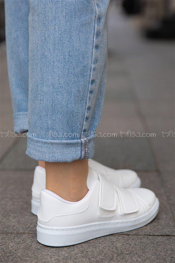 Sunı Derı ayakkabı BEYAZ - 20143