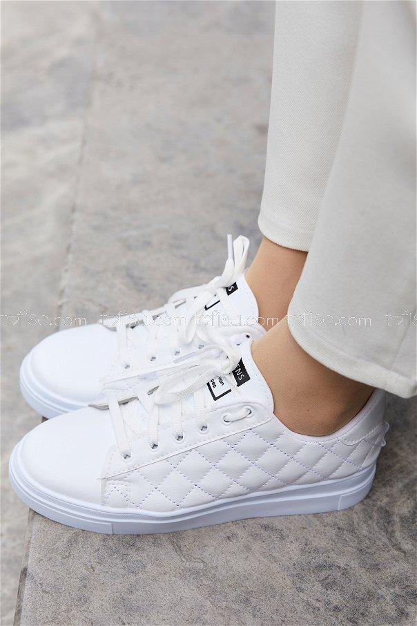 Sunı Derı Ayakkabı BEYAZ - 20149
