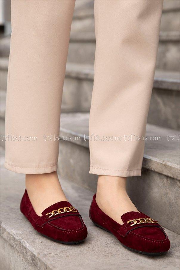 Sunı Derı Ayakkabı BORDO - 20140