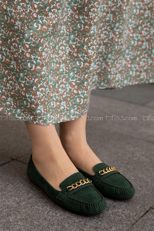 Sunı Derı Ayakkabı YESIL - 20140