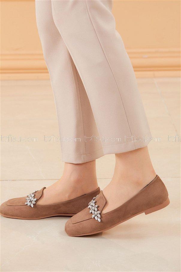 Taslı Babet Ayakkabı KAHVE - 20592